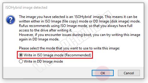 Запись в режиме изображения ISO (рекомендуется)